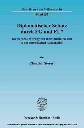 Diplomatischer Schutz durch EG und EU?
