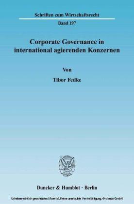 Corporate Governance in international agierenden Konzernen.