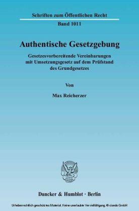 Authentische Gesetzgebung.