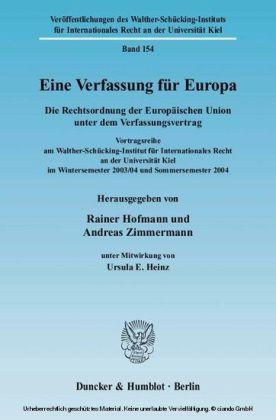 Eine Verfassung für Europa.