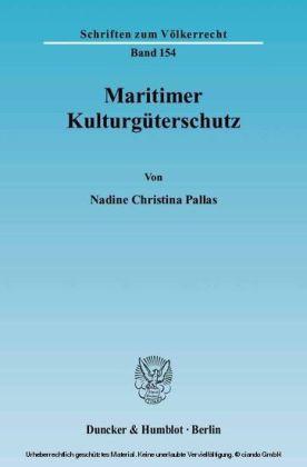 Maritimer Kulturgüterschutz.