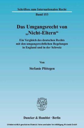 """Das Umgangsrecht von """"Nicht-Eltern""""."""