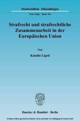 Strafrecht und strafrechtliche Zusammenarbeit in der Europäischen Union.
