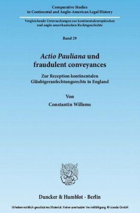 Actio Pauliana und fraudulent conveyances.