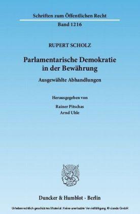 Parlamentarische Demokratie in der Bewährung.