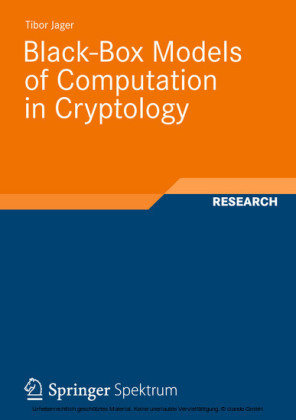 Black-Box Models of Computation in Cryptology