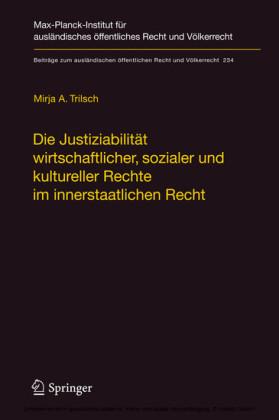 Die Justiziabilität wirtschaftlicher, sozialer und kultureller Rechte im innerstaatlichen Recht