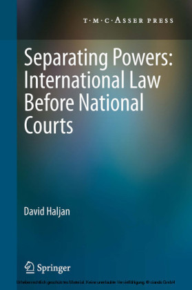Separating Powers: International Law before National Courts