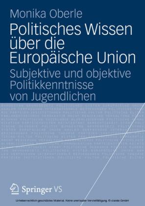 Politisches Wissen über die Europäische Union