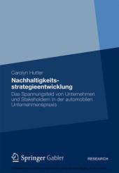 Nachhaltigkeitsstrategieentwicklung