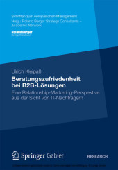 Beratungszufriedenheit bei B2B-Lösungen