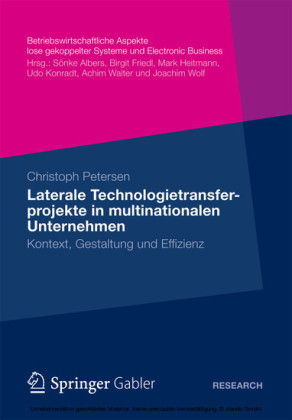 Laterale Technologietransferprojekte in multinationalen Unternehmen
