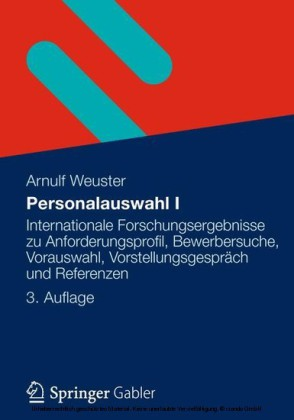 Personalauswahl I