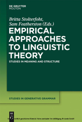 Empirical Approaches to Linguistic Theory