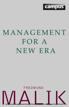 Management For a New Era