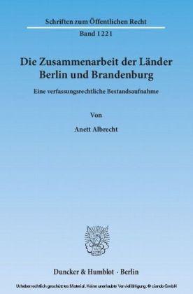 Die Zusammenarbeit der Länder Berlin und Brandenburg.