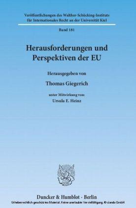 Herausforderungen und Perspektiven der EU.