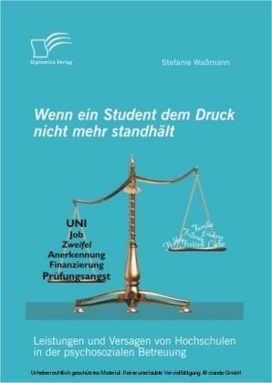 Wenn ein Student dem Druck nicht mehr standhält: Leistungen und Versagen von Hochschulen in der psychosozialen Betreuung
