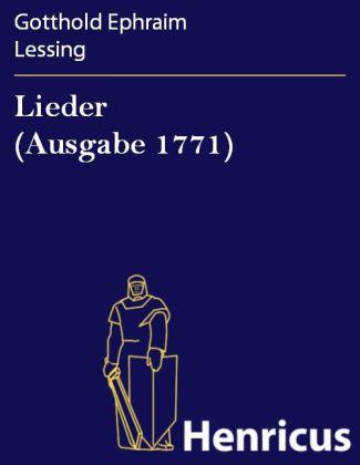 Lieder (Ausgabe 1771)