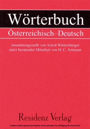 Wörterbuch Österreichisch - Deutsch