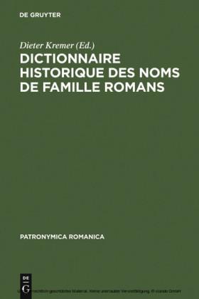 Dictionnaire historique des noms de famille romans