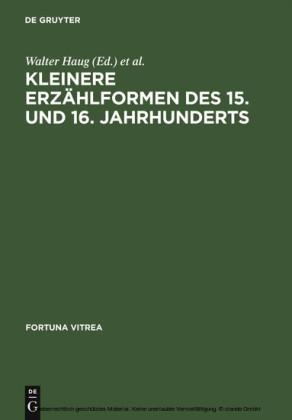 Kleinere Erzählformen des 15. und 16. Jahrhunderts