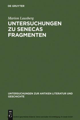 Untersuchungen zu Senecas Fragmenten