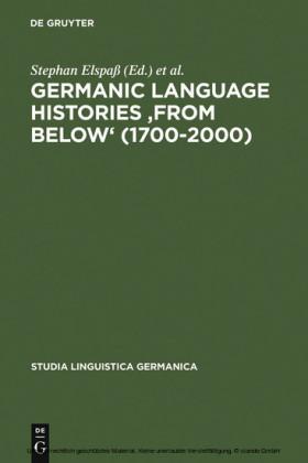 Germanic Language Histories 'from Below' (1700-2000)