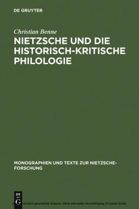 Nietzsche und die historisch-kritische Philologie