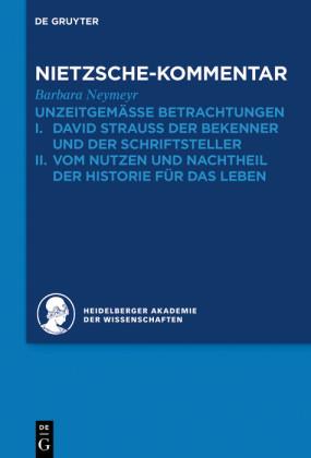 Kommentar zu Nietzsches 'Unzeitgemässen Betrachtungen'