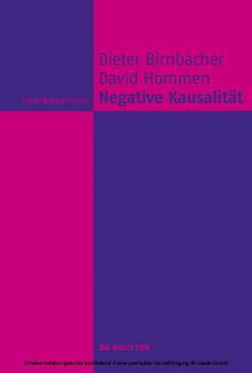 Negative Kausalität
