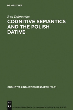 Cognitive Semantics and the Polish Dative