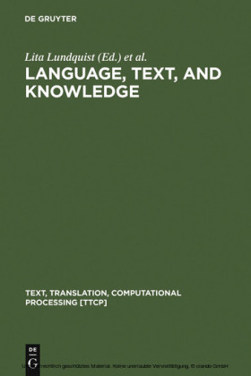 Language, Text, and Knowledge