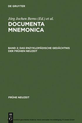 Das enzyklopädische Gedächtnis der Frühen Neuzeit