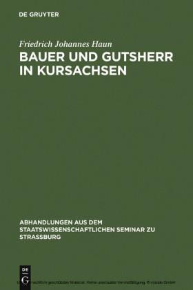 Bauer und Gutsherr in Kursachsen