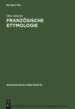 Französische Etymologie