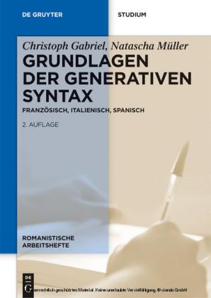 Grundlagen der generativen Syntax
