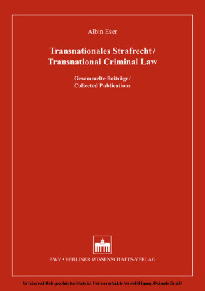 Transnationales Strafrecht/Transnational Criminal Law