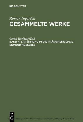 Einführung in die Phänomenologie Edmund Husserls