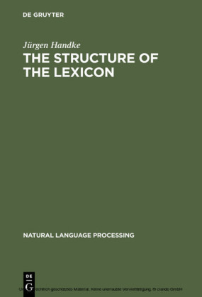 The Structure of the Lexicon