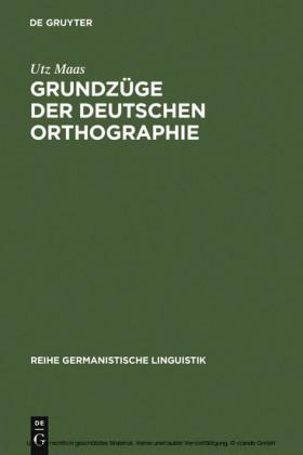 Grundzüge der deutschen Orthographie