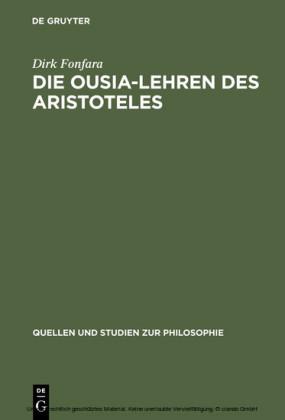 Die Ousia-Lehren des Aristoteles