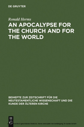 An Apocalypse for the Church and for the World