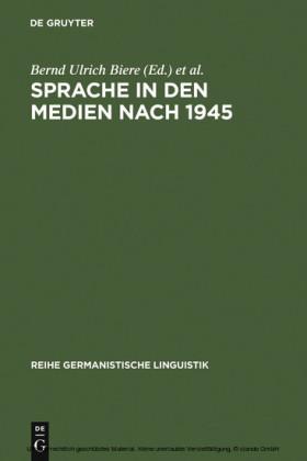 Sprache in den Medien nach 1945