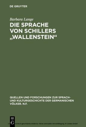 Die Sprache von Schillers 'Wallenstein'