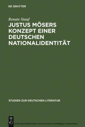Justus Mösers Konzept einer deutschen Nationalidentität