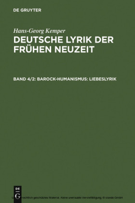 Barock-Humanismus: Liebeslyrik