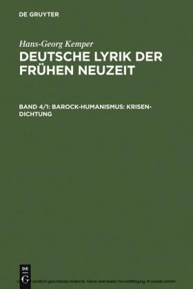 Barock-Humanismus: Krisen-Dichtung