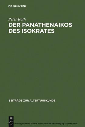 Der Panathenaikos des Isokrates