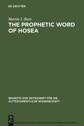 The Prophetic Word of Hosea